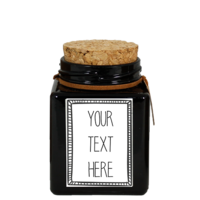 My Flame Lifestyle SOY CANDLE - YOUR OWN TEXT - SCENT: WARM CASHMERE
