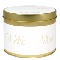 My Flame Lifestyle SOJAKAARS XL - YOU ARE WOW - GEUR: FRESH COTTON