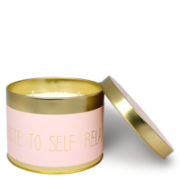 My Flame Lifestyle SOY CANDLE XL - NOTE TO SELF: RELAX - SCENT: GREEN TEA TIME