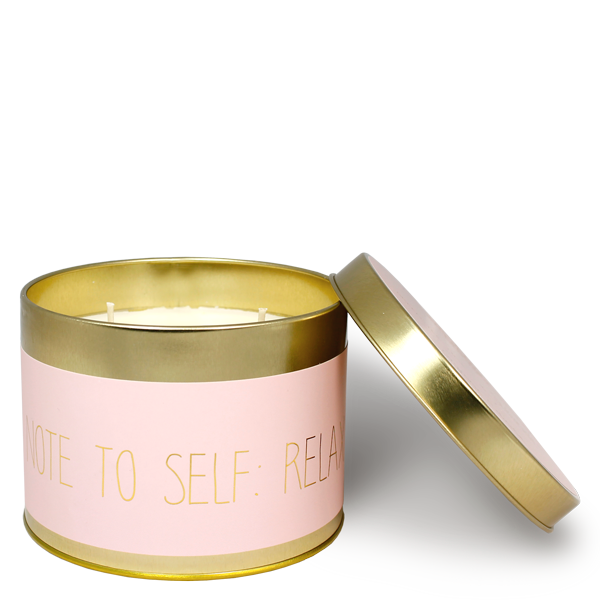 My Flame Lifestyle SOJAKAARS XL - NOTE TO SELF: RELAX - GEUR: GREEN TEA TIME