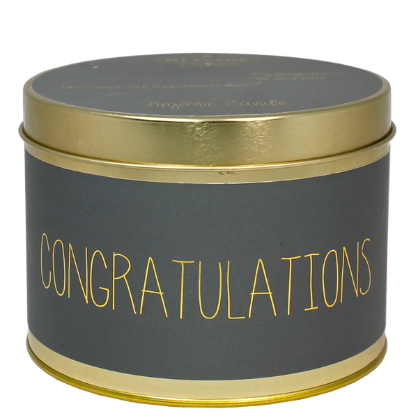 My Flame Lifestyle SOY CANDLE XL - CONGRATULATIONS - SCENT: PERSIAN POMEGRANATE