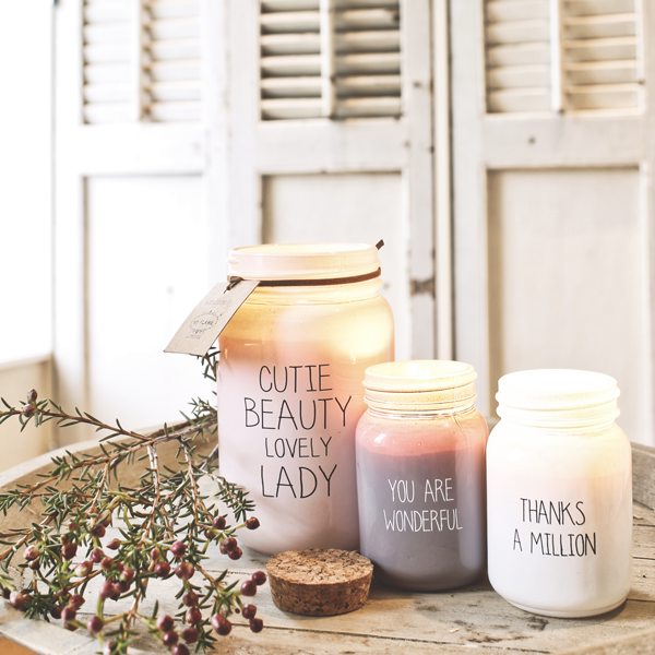 My Flame Lifestyle SOY CANDLE - THANKS A MILLION - SCENT: FRESH COTTON