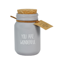 My Flame Lifestyle SOY CANDLE - YOU ARE WONDERFUL - SCENT: AMBER'S SECRET