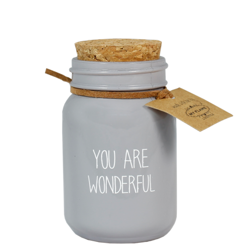 SOY CANDLE - YOU ARE WONDERFYUL