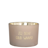 My Flame Lifestyle SOY CANDLE - JIJ BENT GOUD WAARD - SCENT: FIG'S DELIGHT