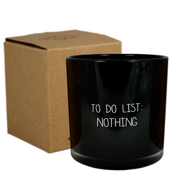 My Flame Lifestyle SOY CANDLE - TO DO LIST: NOTHING - SCENT: WARM CASHMERE