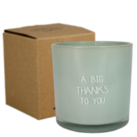 My Flame Lifestyle SOY CANDLE - A BIG THANKS TO YOU - SCENT: MINTY BAMBOO