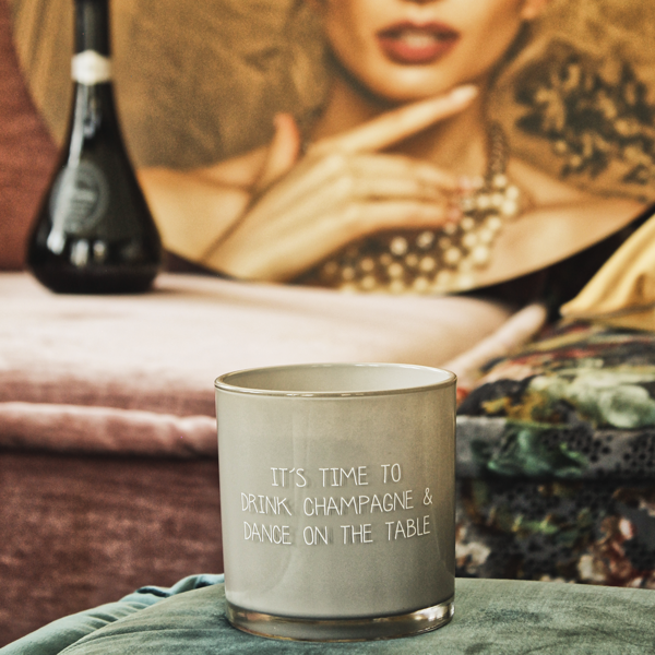 My Flame Lifestyle SOY CANDLE -  DRINK CHAMPAGNE & DANCE ON THE TABLE - SCENT: AMBER'S SECRET