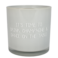 My Flame Lifestyle SOJAKAARS -  DRINK CHAMPAGNE & DANCE ON THE TABLE - GEUR: AMBER'S SECRET
