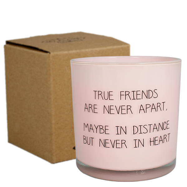 My Flame Lifestyle SOJAKAARS - TRUE FRIENDS ARE NEVER APART - GEUR: GREEN TEA TIME