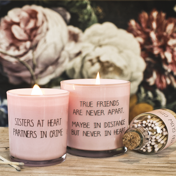 My Flame Lifestyle SOY CANDLE - TRUE FRIENDS ARE NEVER APART - SCENT: GREEN TEA TIME