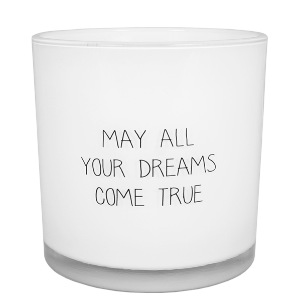 My Flame Lifestyle SOY CANDLE - MAY ALL YOUR DREAMS COME TRUE - SCENT:  FRESH COTTON