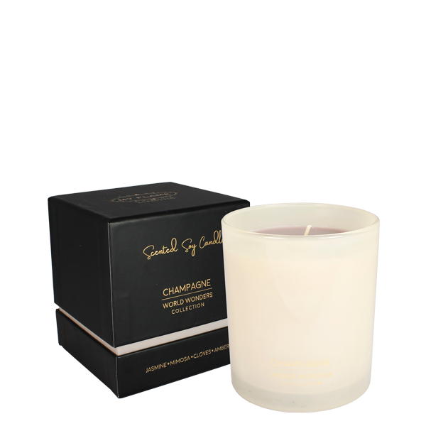 My Flame Lifestyle SOY CANDLE 230 GR. - WORLD WONDERS - CHAMPAGNE