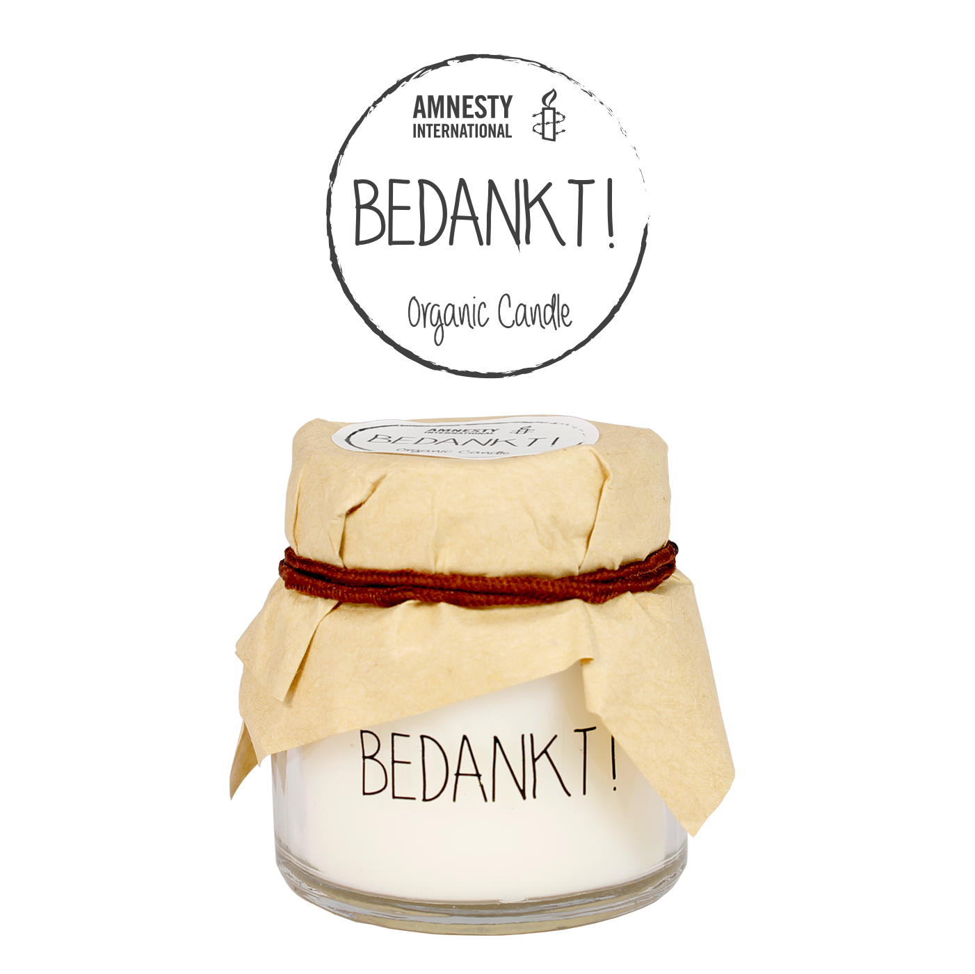 My Flame Lifestyle SOY CANDLE - BEDANKT! - SCENT: FRESH COTTON