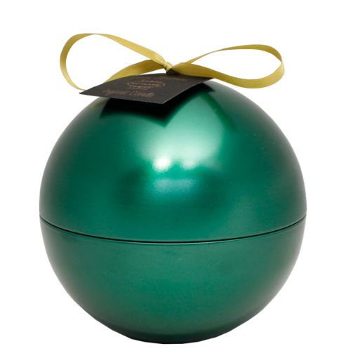 SOY CANDLE - 174 GR - CHRISTMAS BALL - GREEN