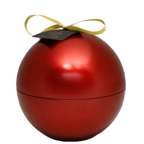 SOY CANDLE - 174 GR - CHRISTMAS BALL -  RED