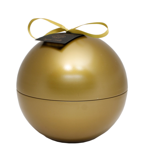 SOY CANDLE - 174 GR - CHRISTMAS BALL - GOLD