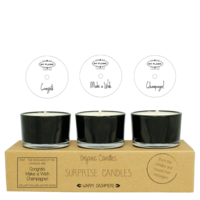 My Flame Lifestyle SURPRISE CANDLES - CONGRATS, WISH, CHAMPAGNE - WARM CAHSMERE