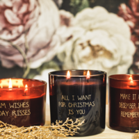 My Flame Lifestyle SOJAKAARS - WARM WISHES AND HOLIDAY KISSES - ROOD - GEUR: WINTER WOOD