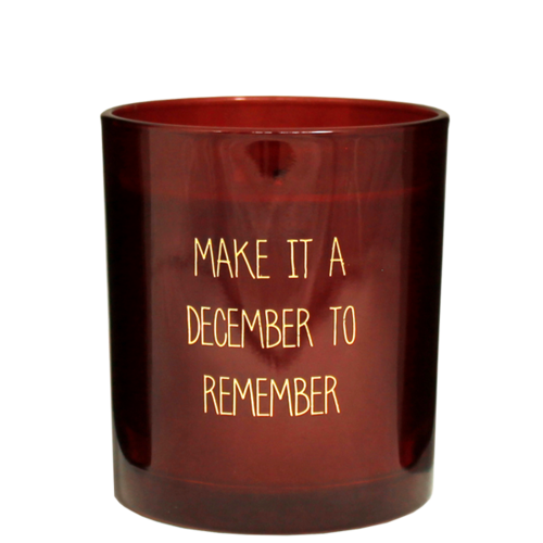 SOY CANDLE - DECEMBER TO REMEMBER - RED