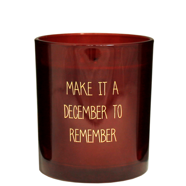 My Flame Lifestyle SOJAKAARS - DECEMBER TO REMEMBER - ROOD - GEUR: WINTER WOOD