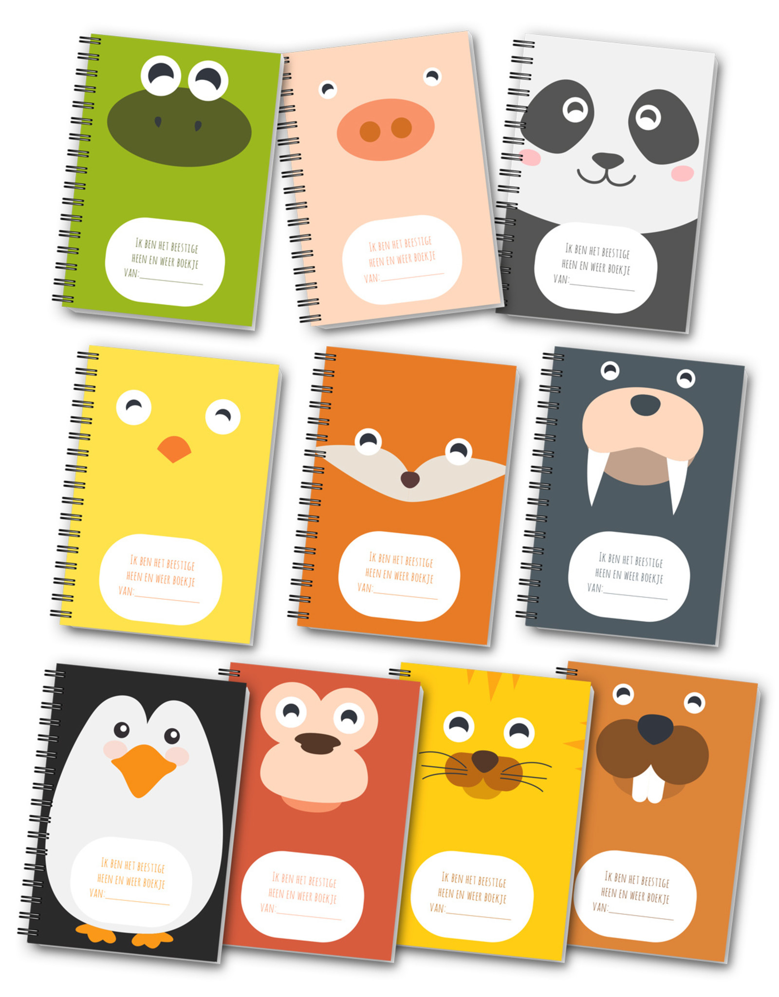 Heen en weer boekjes oppasboekjes voor kinderopvang 10 stuks