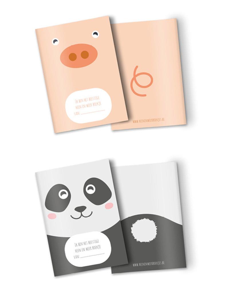 Heen en weer schriftjes voor kinderopvang - kies zelf je dier