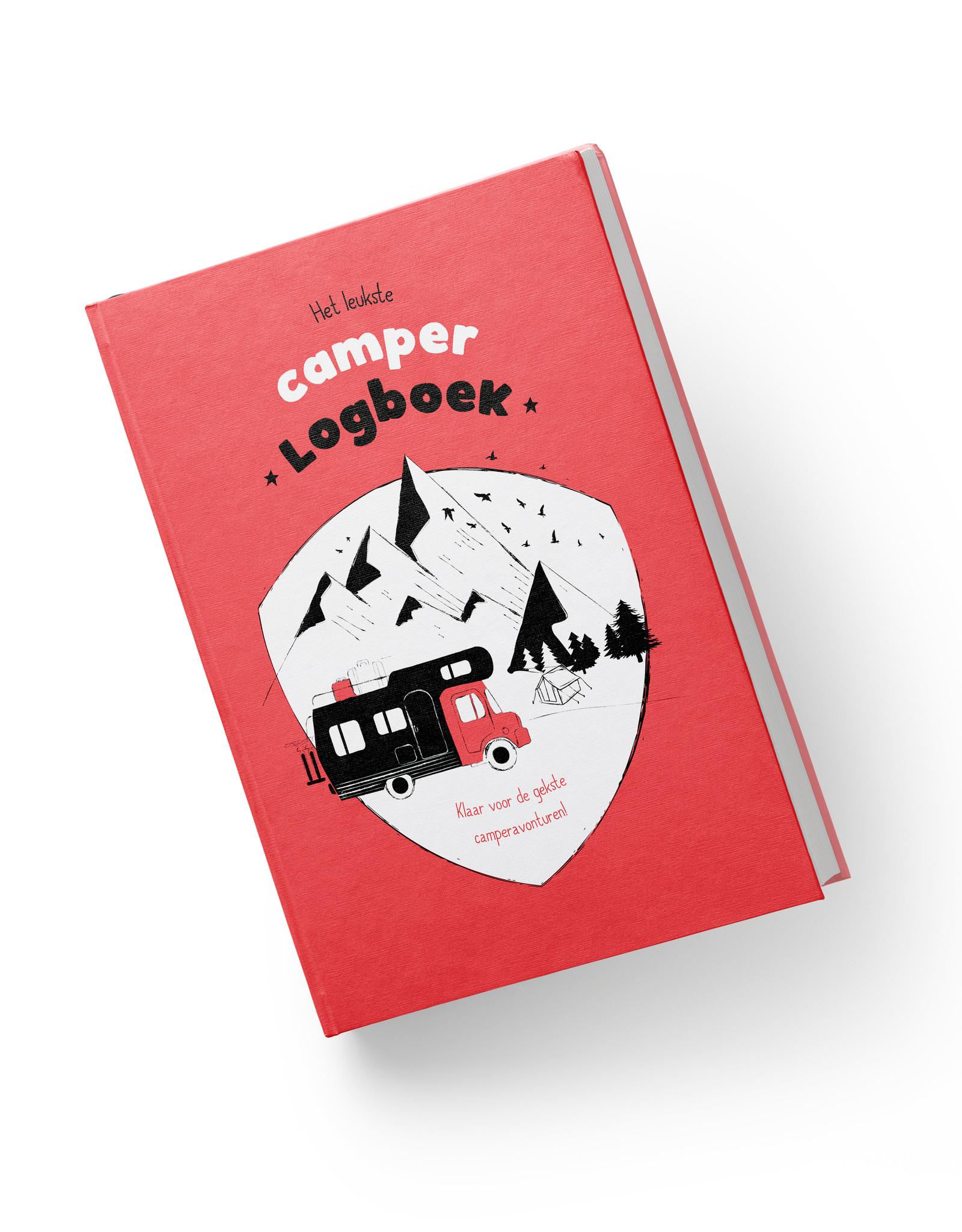 Het leukste camper logboek rood