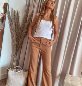 Rut and Circle Trouser Camel