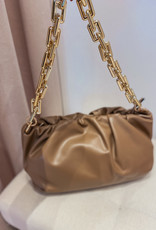 Gold Chain bag - Taupe