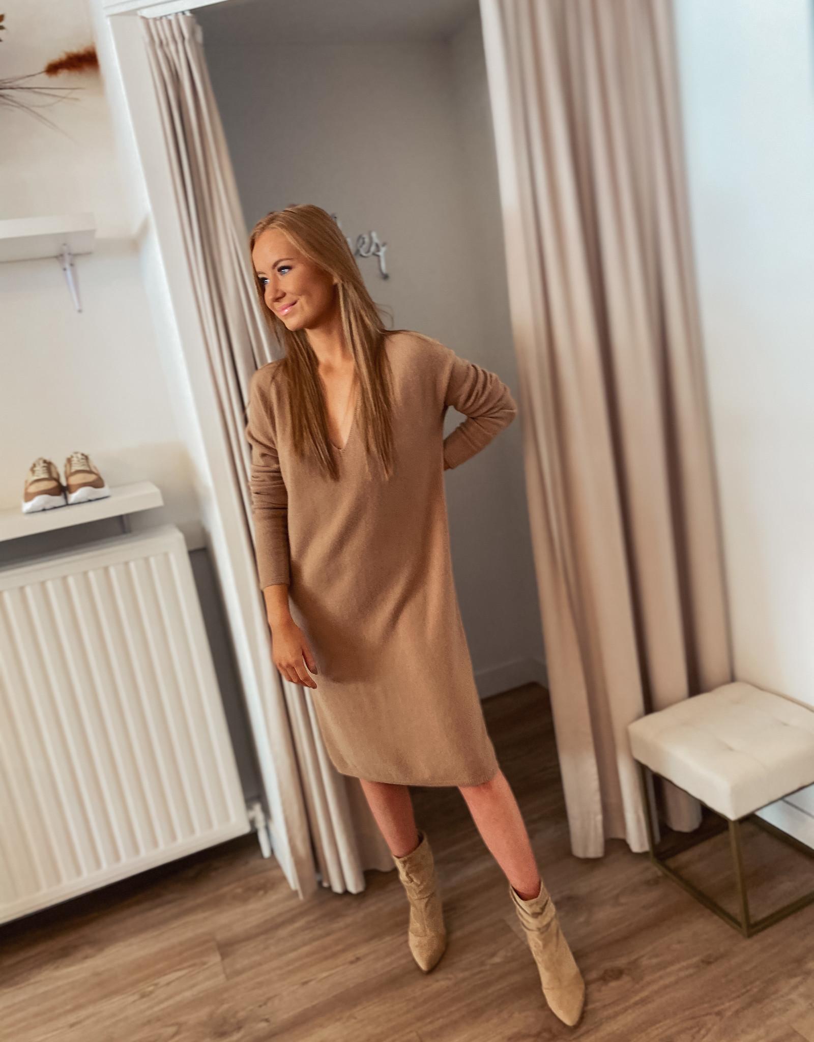 Knit Dress TU - Camel