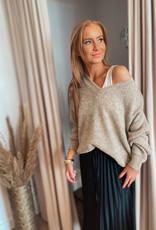 Pullover V-neck - Sand