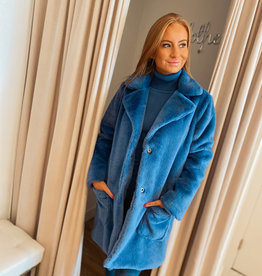 Teddy Coat - Blue