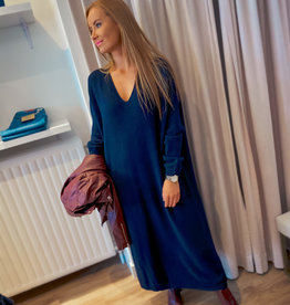 Knit Long Dress - Navy