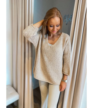 Knit Pullover - Sand