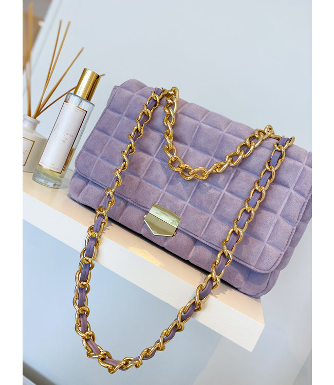 Large Cross body Bag - Lilac