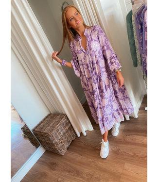 Maxi Print Dress - Lilac