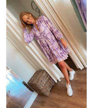 Printed Dress -  Lilac