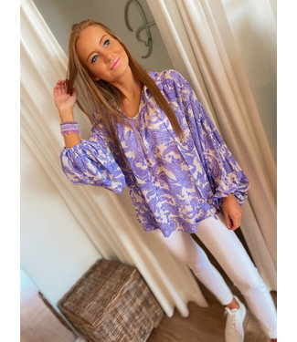 Printed Blouse - Lilac