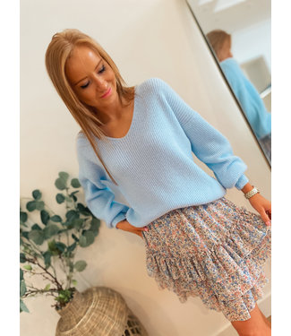 Pullover V-neck - Light Blue
