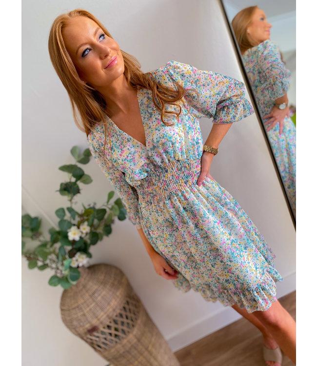 Smock Colorful Detail Dress