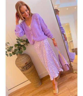 Spotted Mid skirt - Lilac