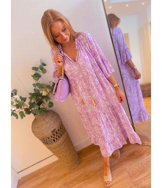 Lilac/White Long Dress