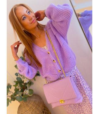 Chain shoulder bag - Lilac