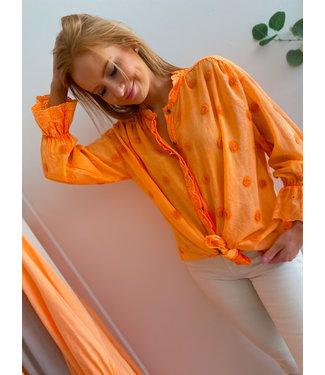 Detailed Blouse - Orange