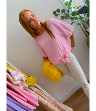 Knot Blouse - Pink