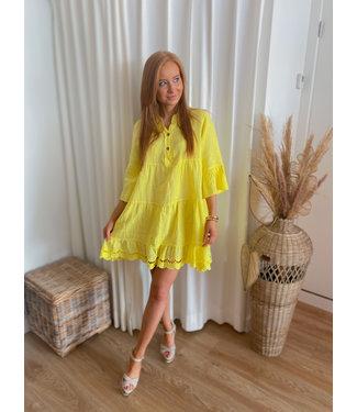 Linen Dress - Yellow