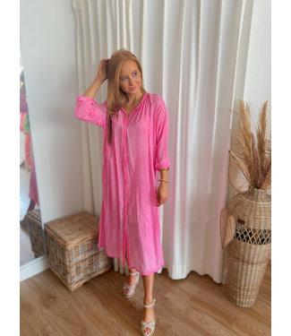 Long Shirt Dress - Pink