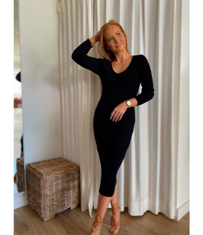 Knit Mid Dress - Black