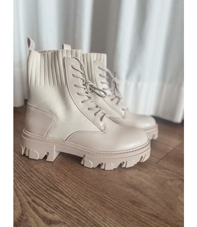 Ankle Boot - Light Beige